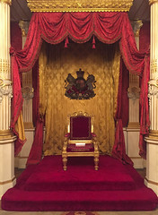 Throne Room, British Embassy, Paris, France (Thierry Hoppe) Tags: throneroom britishembassy paris france uk embassy bristish greatbritain rue sainthonore iphone throne majesty royal unitedkingdom queen emblem crest