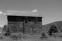 Visitor Center (Patricia Henschen) Tags: twinlakes colorado rural topoftherockies scenicbyway reservoir lake glacial mountain mountains sawatch range lakecounty sanisabelnationalforest backroads backroad museum visitorcenter historicdistrict mining town miningheritage blackkwhite