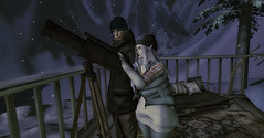 Wishing Upon A Star (☢.:Myth:.☢) Tags: secondlife sl winter snow snowflakes cold star telescope mountains together