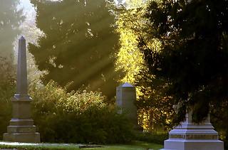"Cincinnati – Spring Grove Cemetery & Arboretum ""Morning Light On Obelisk"