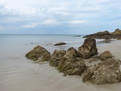 Seascape (teressa92) Tags: seascape rocks waves seaweed clouds horizon sand