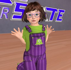Vicarious Youth - Purple Slime Overalls2 (Suni Recco Hutton) Tags: vicariousyouth blog slblog slblogger clothes child clothing freebie girl kids kid sl secondlife secondlifeblogger secondlifeblog toddleedoo td nonmesh
