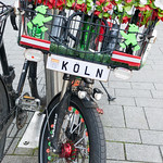 Bicycle decorated with artificial flowers thumbnail