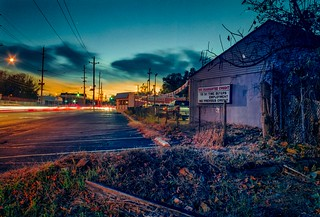Sunset Behind Used Car Lot, Wagaraw Road Hawthorne NJ