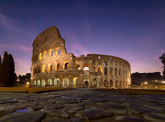 Blood and Sand (v-_-v) Tags: roma lazio italien it rome rom italy cityscape historical bluehour travel europe colosseum colosseo kolosseum ancient ruin