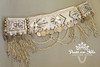 white and silver (Puntá con Hilo) Tags: tribal tribalfusion tribalbellydance costume bellydance belt beadwork