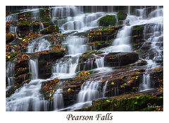 Pearson Falls Staircase (Reid Northrup) Tags: water waterfall moss rocks pearsonfalls saluda northcarolina longexposure nature landscape cascades cascade stream nikon rrs reidnorthrup autumn fall leaves