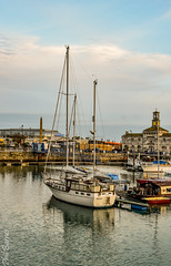 The 'Rena' in Ramsgate harbour (philbarnes4) Tags: rena ramsgate ramsgateharbour kent england philbarnes yacht dslr nikond5500 reflection november