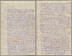 Letter from Father (1812-1875) to Daughter (1859-1955) 1873-05-16, p. 2+3 (142[×2]×220 mm) (palMeir) Tags: letter verden 1873 1870s brief kurrentschrift handwriting germany