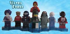 Ultra Force (Quickblade22) Tags: superheroes superheroteams comics comicbook custom capemadness brickforge arealight