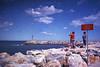 Saint Cyprien, la jetée (L.la) Tags: mer ciel nuages méditerranée saintcyprien pyrénéesorientales languedocroussillon roussillon eu europe europa europeonflickr argentique film agfa agfavista 135 24x36 couleur scanner epson v600 epsonv600 yashica carlzeiss tessar voyage vacances travel compact 66 pointandshot pointnshot jobo cpe2 jobocpe2 tetenal c41 lla laurentlopez