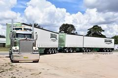 Ballinger Kenworth T908 AB Triple (Bourney123) Tags: truck trucks trucking highway haulage ballinger transport kenworth roadtrain t908 diesel