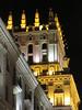 City Gates tower detail at night from Vulica Kirava, Minsk, Belarus (Paul McClure DC) Tags: minsk belarus мінск nov2017 architecture stalinist historic
