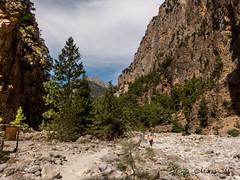 Samaria Schlucht man fühlt sich richtig klein (mariomüller1) Tags: kreta creta griechenland gebirge landschaft landscap natur trees mountainside sky clouds rocks valley geology