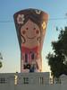 Silly Sally Silo (Roblawol) Tags: artist artistic blue bluesky colorful colors creation creative giantmural girl graffiti graffitiart latinamerica lima mural paint paintedstreetart peru red repurpose silo southamerica woman