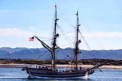 Lady Washington visits Morro Bay (Marcia Fasy) Tags: californa marthawashington morrobay sailing tallship