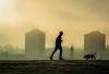 Jog 'n' dog (stuartallan38) Tags: paisley paisleytown scottish westscotland scotland nikon1685 nikond7100 iamnikon cinematic silhouette foggy