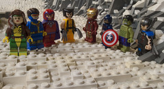 We're Home (Ben Cossy) Tags: lego marvel fox afol tfol snow wolverine cyclops rogue magneto avengers cap captain america iron man hulk thor hype mcu deal 20th century rock comic logan uncanny