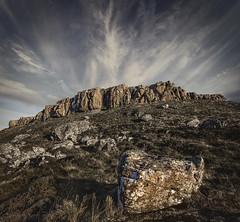 Crag (EXPLORE) (SkyeWeasel) Tags: scotland skye rubhanddunain glenbrittle landscape isolation rock clouds sky carnmor ngc