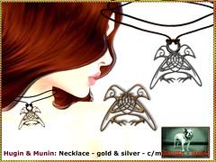 Bliensen - Hugin & Munin - Necklace (Plurabelle Laszlo of Bliensen + MaiTai) Tags: roleplay viking odin raven bird jewelry fantasyjewelry fantasy vikings norse mythology bliensen secondlife sl