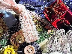 "They so pretty ""Macro Mondays"" (marieschubert1) Tags: sparkle lace colors macromondays buttonsandbows"