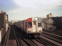CTA 6333 Belmont 1979 (jsmatlak) Tags: chicago cta l elevated train metro subway rapid transit electric railway