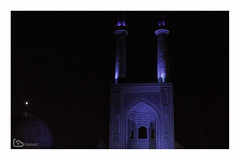 Jameh Mosque of Yazd (alamond) Tags: mosque jamehmosque iwan portal sassanid architecture night dark blue tiles light islam yazd iran minaret shiaislam canon 7d markii mkii llens ef 1740 f4 l usm alamond brane zalar
