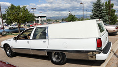 1992 Buick Hearse (coconv) Tags: car cars vintage auto automobile vehicles vehicle autos photo photos photograph photographs automobiles antique picture pictures image images collectible old collectors classic blart 1992 buick hearse funeral coach white 92 roadmaster station wagon professional