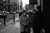 Philip Mould Trio (Foto John) Tags: leicam leicam240 leica leicamtyp240 rangefinder elmaritm90mmƒ28 bw blackwhite blackandwhite blackandwhitethatsright monochrome streetphotography people woman man men street cars vehicles road london uk inexplore