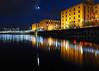 Salthouse Dock (.annajane) Tags: liverpool merseyside salthousedock dock night reflection moon albertdock water lights uk england