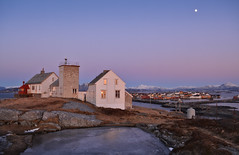 Cold Nights (Ranveig Marie Photography) Tags: moon moonlight bjørnsund bjørnsundfyr bjørnsundfyrstasjon møreogromsdal romsdal island islands mountain mountains snow view evening sunset pink light ice water sea ocean buildings fyr fyrstasjon architecture lighthouse måne rock grass sky bluesky blueskies snø nikon d5200 natur nature landscape landskap norsk norway norwegian norge nordisk norwegen nordic noruega norvège vestlandet nordvestlandet westcoast scenery atlanticocean atlanteren atlanterhavet seascape coast coastline shore seashore old moøya window windows fræna kystverket village fishingvillage leuchtturm vuurtoring tuletorn phare beacon sundown waxinggibbous