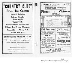 Empire Burlesque theatre program  1920 (albany group archive) Tags: ice cream company countryclub thomas music mochs meat jacks oyster house restaurant handover shoe old albany ny vintage photos picture photo photograph history historic historical