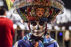 Calavera Regional (lev_nava) Tags: nikond3200 night nikon colorful calavera dayofthedead diademuertos mexicocity mexico sugarskull portrait 50mm nocturnal