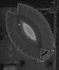 Cathedral of Christ the Light (samayoukodomo) Tags: djimavicpro mavicpro dronephotography drone aerialview aerialphotography takingthedroneouttogethigh quadcopter church cathedral blackandwhite blackwhite bw dronepointofview birdseyeview droneview aerial
