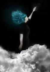 moon (Laura Wienk) Tags: selfportrait dream blue sleep portrait clouds floating flying fineartphotography dreaming dutch digital art