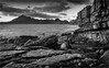 Cuillins Panorama (John J Buckley) Tags: autumn scotland cuillins skye isle sea mountains bw boulder panorama landscape elgol rocks