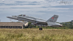 Swiss Air Force McDonnell-Douglas F-A-18C Hornet J-5012 (benji1867) Tags: swiss air force mcdonnelldouglas fa18c hornet j5012 mcdonnell douglas ntm ntm17 ntm2017 17 2017 ban landivisiau base aeronavale marine nationale brittany bretagne france military exercise ex runway take off avgeek avporn aviation fly flight canon 7d2 schweizer luftwaffe fliegergeschwader 13 fliegerstaffel 11 staffel flugplatzkommando meiringen flpl kdo lsmm switzerland suisse
