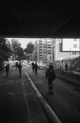 (Hugo Bernatas) Tags: skateboard film 35mm olympus xa2 blackandwhite ilford delta