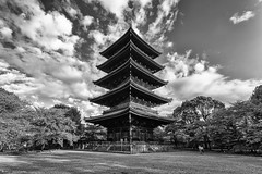The Pagoda of Tō-ji Temple (Explore 08/11/17 #22) (andyrousephotography) Tags: japan kyoto tōji temple pagoda fivestories 5levels tiers wooden 55m buddhist buddha andyrouse canon eos 5d3 5dmkiii ef1740mmf4l
