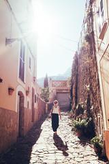 Estellencs (drusus) Tags: shadow backlight spain travel street mallorca x100f estellencs sun