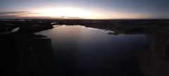 Kroppkärrssjön, looking west (krissen) Tags: kroppkärrssjön karlstad dji inspire djiinspire inspire1 drones aerial lake sweden värmland autumn landscape evening sunset