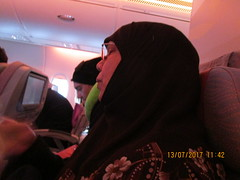 The Baghdad Trip commences (RubyGoes) Tags: emirates flight syddxb man woman night a380