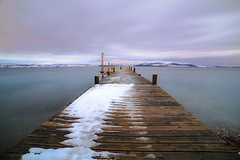 Smooth (tods_photo) Tags: ifttt 500px sky landscape lake water clouds snow jetty
