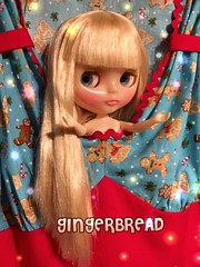 """""""Somebody's getting a gingerbread dress and it's not me!"""" Home Sweet Home wants a dress like this in her size but the humans come first at Christmas. We'll see if time allows little one. Dress: Painterslife"""
