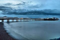 Dawn Clouds (Croydon Clicker) Tags: pier sea daybreak dawn beach ocean water clouds waves 1500v60f