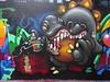 Artiste inconnu(e) (novembre 2017) (Archi & Philou) Tags: streetart murpeint paintedwall détail paris19 inconnu unknown monstre dent tooth