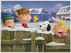 Winter Greetings from The Peanuts Gang (my title-none provided) ~ Peanuts Worldwide LLC (pau_hana_puzzlers) Tags: charliebrown snoopy woodstock linusvanpelt sallybrown