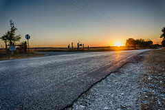South Sunset (KevinHillPhotography) Tags: open road roads texas route noon evening sunset sunsets gravel rocks fields view landscape
