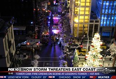 LegoNYC live TV coverage (sponki25) Tags: lego legonyc tower highrise fire department fdny nypd police ambulance firetruck snow new york city cars trucks weather christmas prechristmasseason winter snowplow dsny sanitation