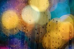 festive bokeh (mariola aga) Tags: xmas lights bokeh blur wet glass mix macro art thegalaxy